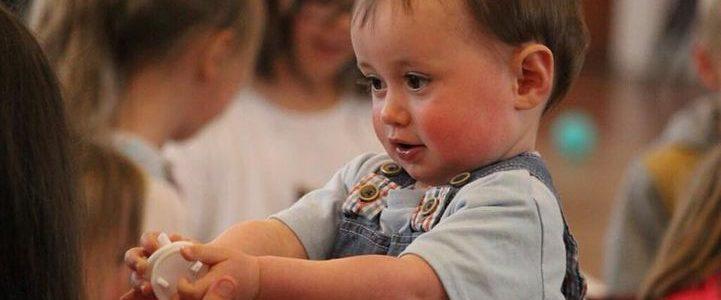young boy attending preschool in Delahey