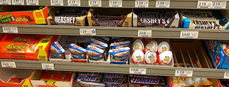 Shop offering British candy selections